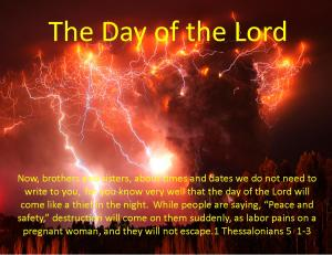 1 Thessalonians 5  1-3