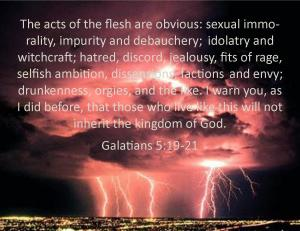 Acts of the Flesh Galatians 5 19-21