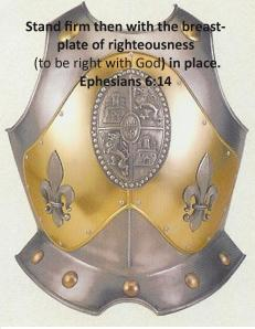 Breastplate of Rightiousness Ephesians 6 14