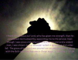 1 Timothy 1  12-14
