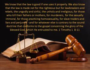 1 Timothy 1  8-11