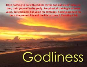 1 Timothy 4 7-8