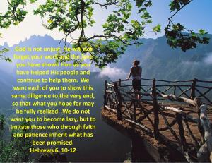 Hebrews 6  10-12