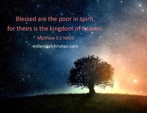 Matthew 5 3 NASB