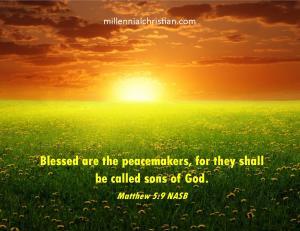 Matthew 5 9 NASB